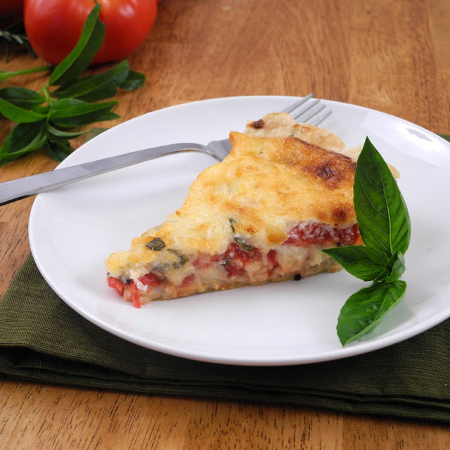 Tomato Pie with Olive Oil Rosemary Crust - From Calculu ...