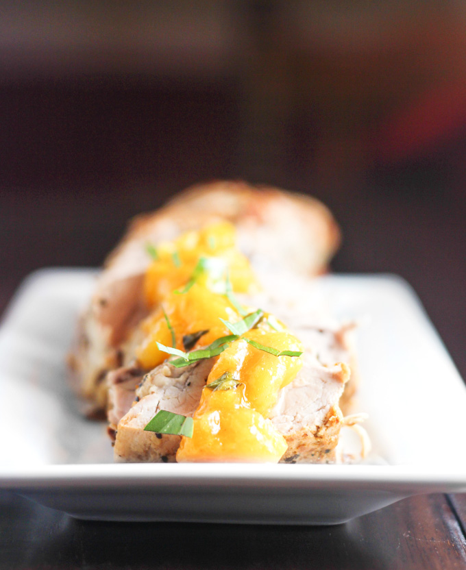 Pork Tenderloin with Peach Basil Compote - From Calculu∫ to Cupcake ...