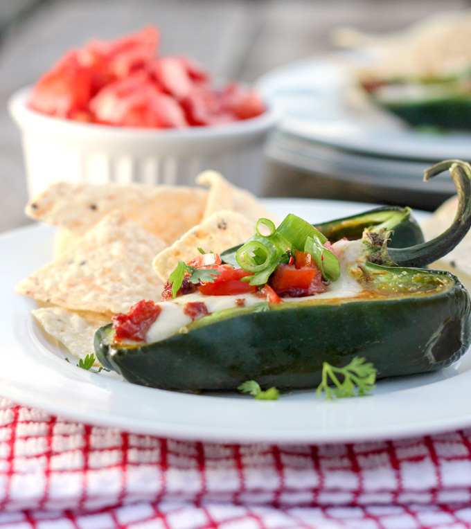 Queso Fundido Stuffed Poblanos - From Calculu∫ to Cupcake∫