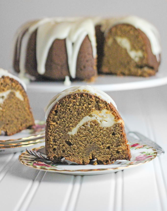 Lemon Glazed Gingerbread Pound Cake with Lemon Cream ...
