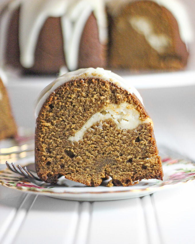 Lemon Glazed Gingerbread Pound Cake with Lemon Cream Cheese Filling ...