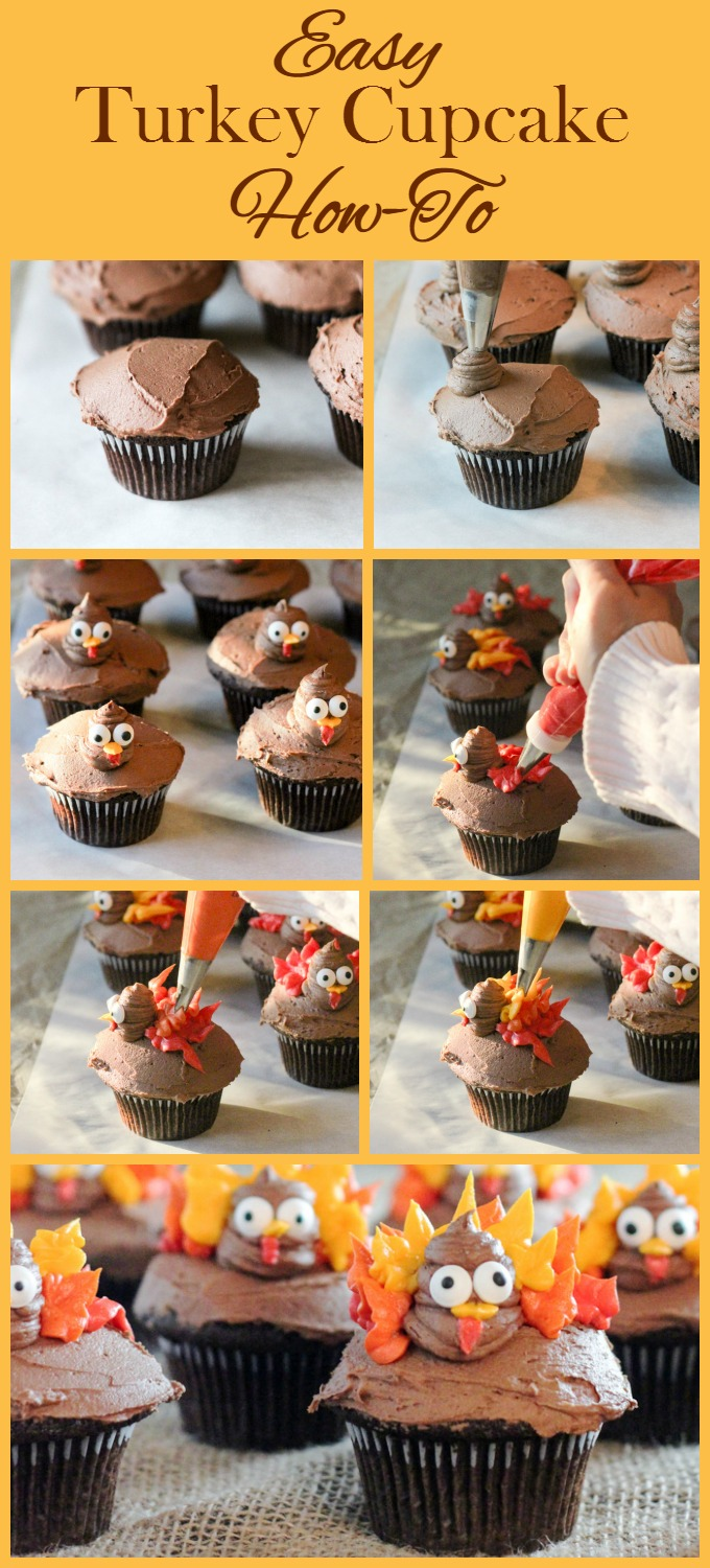 Easy Turkey Cupcake How To